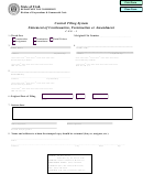 Central Filing System Statement Of Continuation, Termination Or Amendment C.f.s. - 3 Form