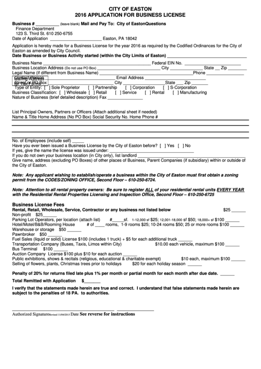application for business license form