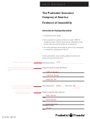 Sample Evidence Of Insurability Form