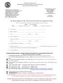 Re-exam Request Form (for Current Nevada Exam Applicants Only) - State Of Nevada Board Of Professional Engineers And Land Surveyors