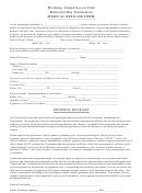 Medical Release Form, General Release