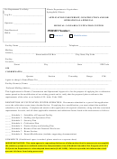 Application For Permit, Construction And/or Operational Approval Form Medical Cannabis Cultivation Center
