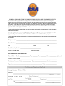 General Release Form For Background Checks And Consumer Reports