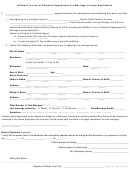 Affidavit In Lieu Of Personal Appearance For Marriage License Application Form
