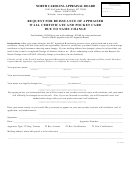 Request For Reissuance Of Appraiser Wall Certificate And Pocket Card Due To Name Change - North Carolina Appraisal Board