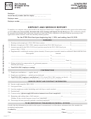 Deposit And Service Report Form