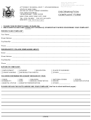 Discrimination Complaint Form - State Of New York Office Of The Attorney General