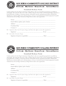 Standard Release Form - San Diego Community College District