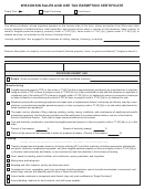 Wisconsin Sales And Use Tax Exemption Certificate Form