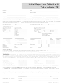 Form 3141 - Initial Report On Patient With Tb