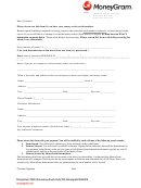 Money Order Dearch Form - Moneygram