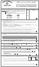Form Ss-6001 - Application For Registration Of A Charitable Organization - Departament Of State, State Of Tennessee