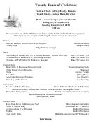 Concert Program Template