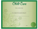 Child Care Certificate Template