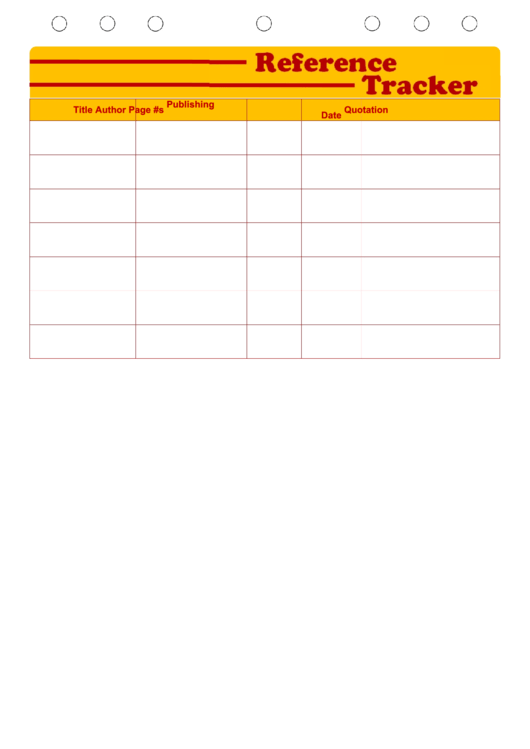 Reference Tracker
