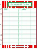 Christmas Gift Tracker Template