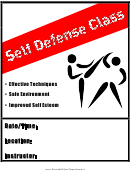 Self Defence Flyer Templates