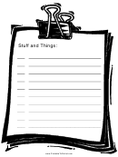 Stuff And Things To Do List