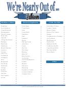 Bathroom Shopping List Spreadsheet