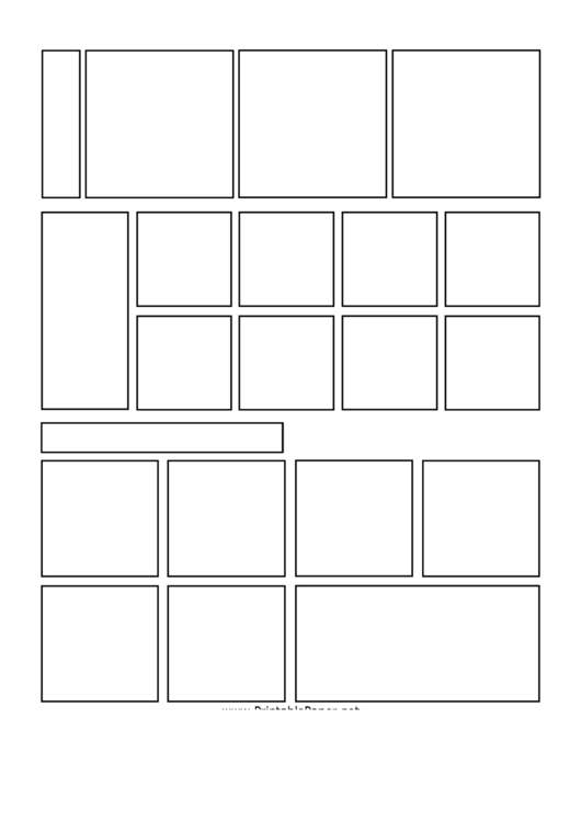 Comic Page Template Printable pdf