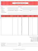 Red Custom Order Invoice Template