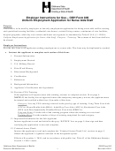 Form 805 - Uniform Employment Application For Nurse Aide Staff