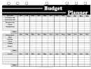 Student Budget Planner Template - Black And White