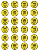 Skull Templates (yellow Background)