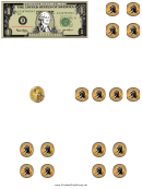 Dollar Bill And Coins Template
