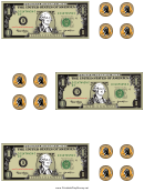 Dollar Bill And Coin Templates
