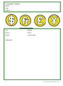 Financial Fax Cover Sheet
