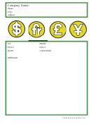 Financial Fax Cover Sheet