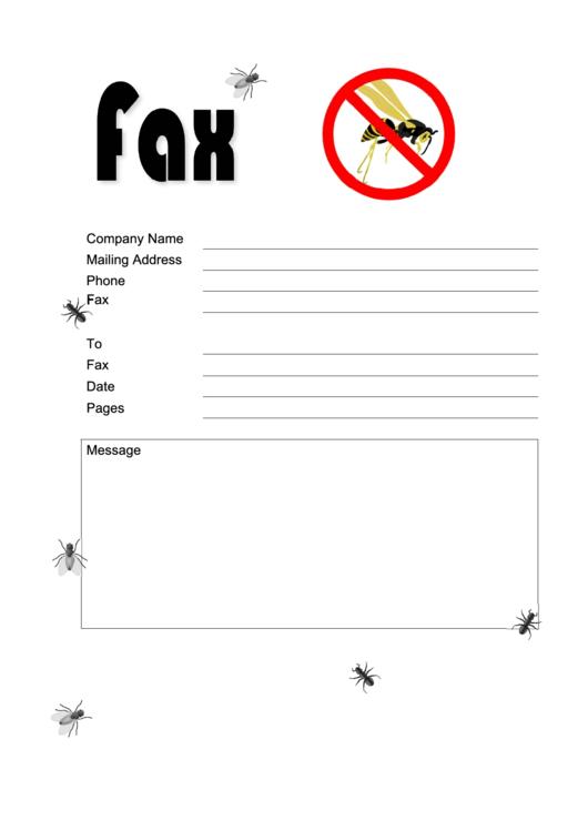 Bug Exterminator - Fax Cover Sheet