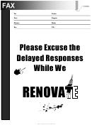 Renovation - Fax Cover Sheet