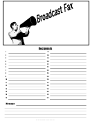Broadcast - Fax Cover Sheet