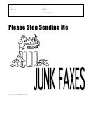 Stop Junk Faxes - Fax Cover Sheet
