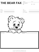 Teddy Bear - Fax Cover Sheet