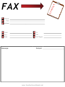 Clipboard - Fax Cover Sheet