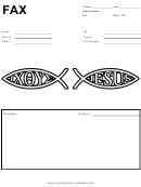 Fax Cover Sheet Template - Jesus Fish