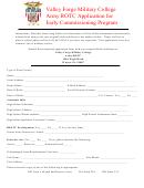 Vfmc Army Rotc Program Application Form