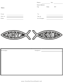 Jesus Fish - Fax Cover Sheet