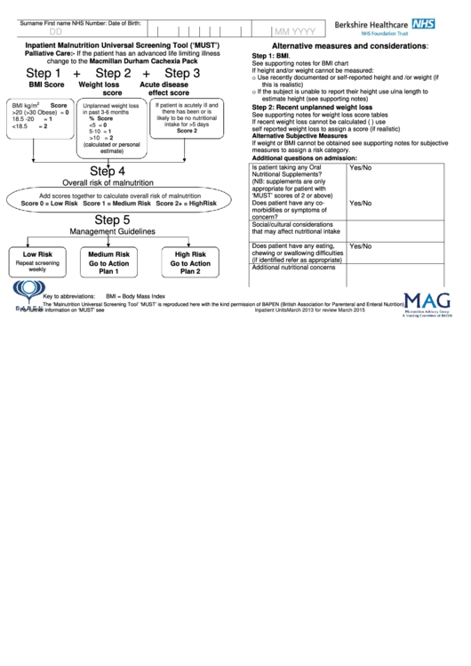Printable Medical Templates, Forms and Charts