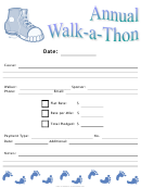 Annual Walk-a-thon Event Flyer Template