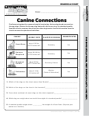 Canine Connections Worksheet Template