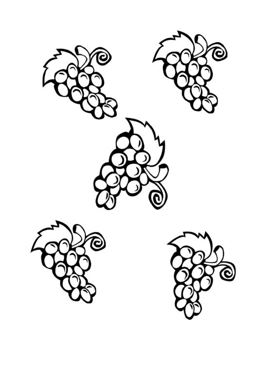 Grapes Template printable pdf download