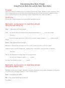 Determining Ideal Body Weight