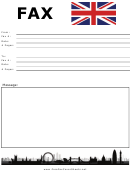 British Flag - Fax Cover Sheet