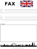 British Flag - Fax Cover Sheet