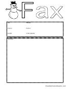 Snowman - Fax Cover Sheet