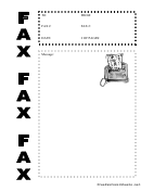 Fax Machine - Fax Cover Sheet